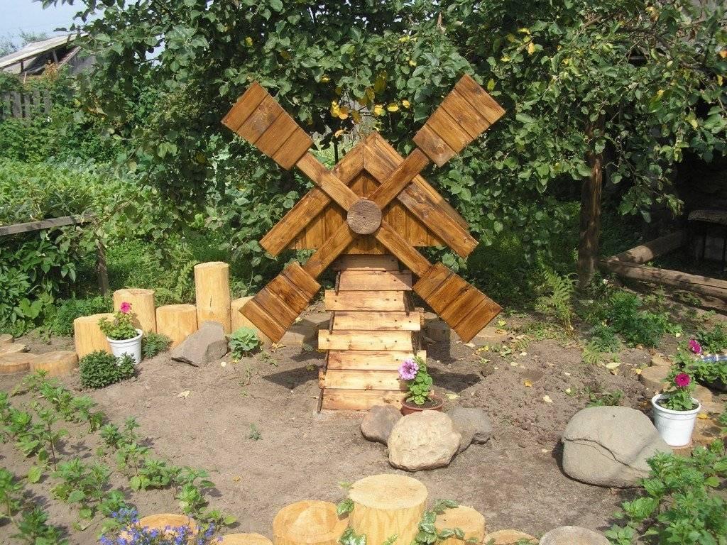 Декоративная мельница для сада своими руками из доступных материалов - огород, сад, балкон - медиаплатформа миртесен