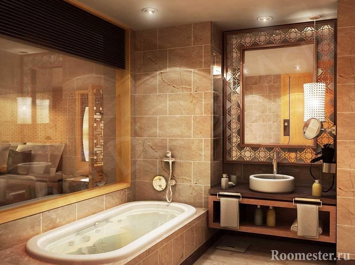 Дизайн плитки для ванной комнаты: 60+ фото, красивый дизайн отделки ванной комнаты плиткой