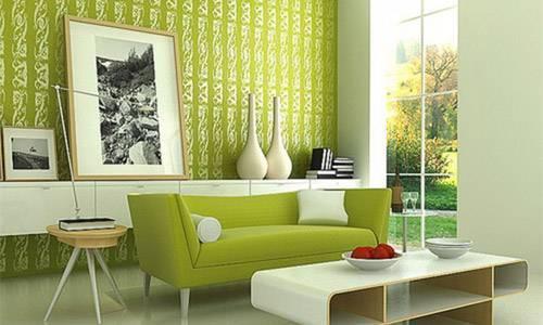 Фисташковый цвет в интерьере и его сочетания на фото