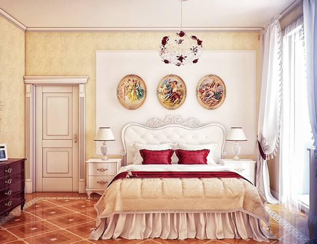 Роскошная спальня в классическом стиле