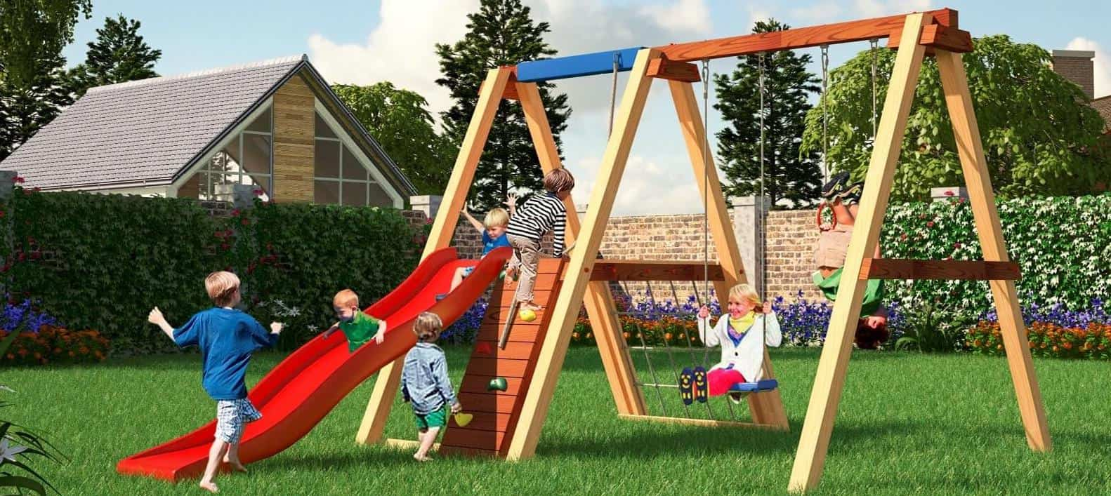 Детская площадка на даче ⚽ своими руками: покрытие, чертежи и схемы и как сделать