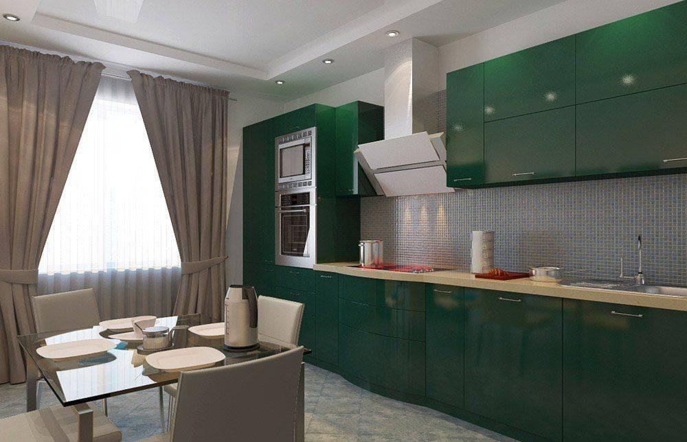 Зеленая кухня: реальные фото примеры кухни зеленого цвета