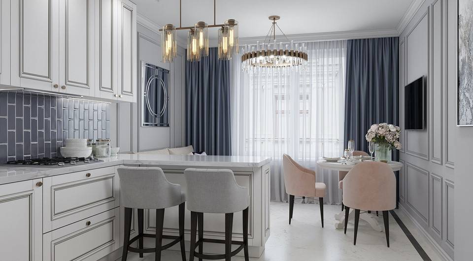 Кухня и гостиная: удачные решения объединения пространства