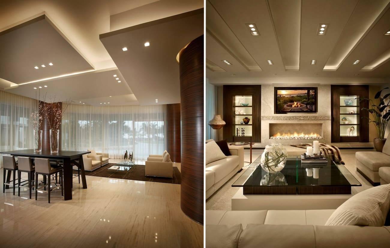 Потолок из гипсокартона: 90 идей дизайна (фото)