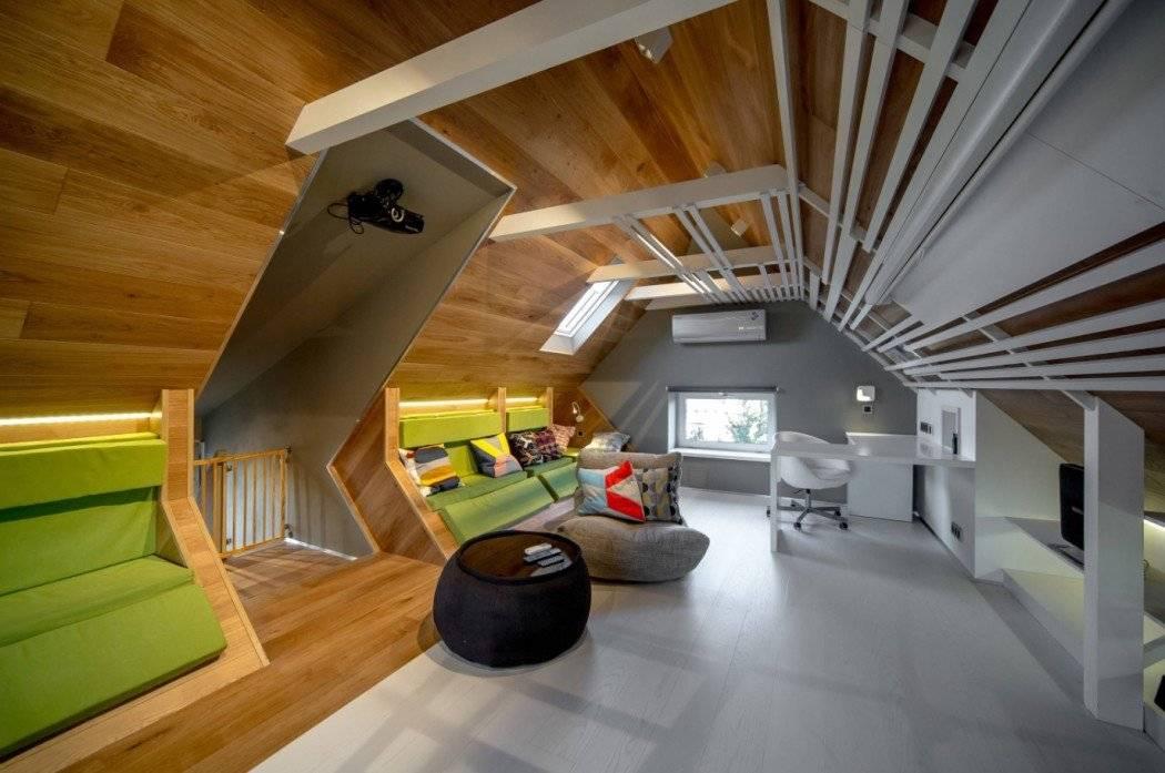 Комната под крышей: назначение, варианты, преимущества и недостатки
