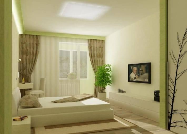 Бежевые шторы в спальне, гостиной и кухне с фото