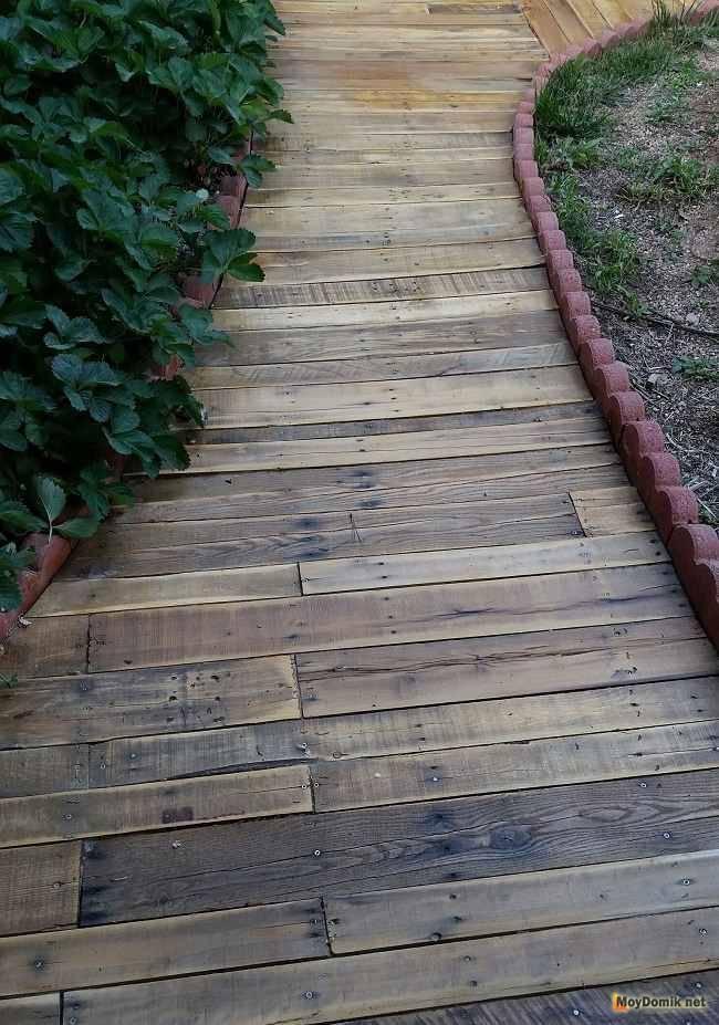 Пошаговая инструкция, как сделать садовую дорожку из спилов дерева -