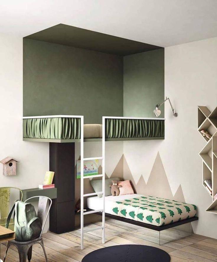 Варианты дизайна спальни с комбинированными обоями: эффектные примеры (+70 фото)