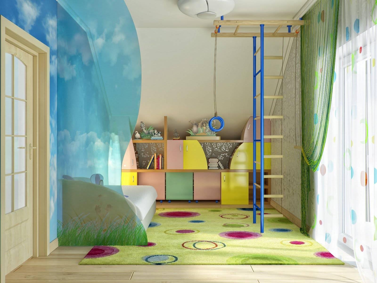 Детская комната для троих детей - фото обзор идей интерьера