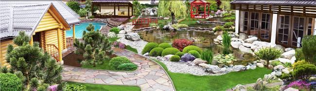 Ландшафтный дизайн — основы проектирования и современная архитектура сада или приусадебного участка (150 фото)