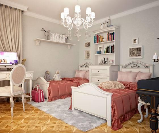Дизайн детской комнаты для двух девочек – интересные идеи и важные правила