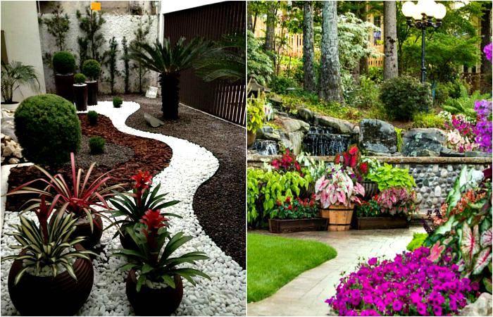 Камни для ландшафтного дизайна (58 фото): искусственные декоративные камни для ландшафта, галька для сада