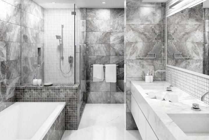 Плитка под мрамор в ванной комнаты - 80 фото дизайна ванной с мраморной плиткой