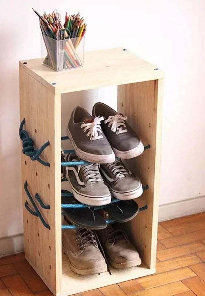 Подставка для обуви своими руками: пошаговые инструкции