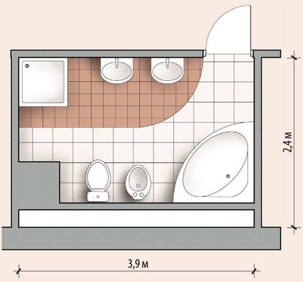 Дизайн ванной комнаты с угловой ванной: примеры оформления интерьера с фото
