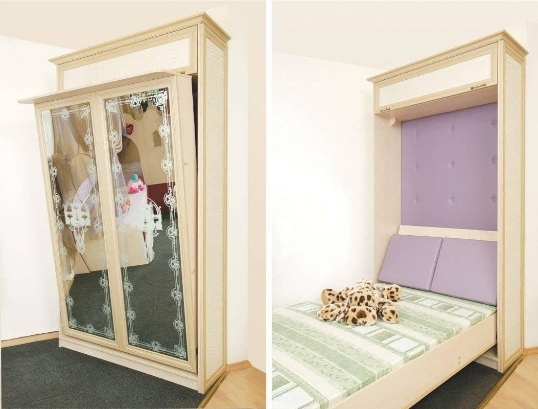 Особенности эксплуатации встроенных в шкаф кроватей, виды конструкций
