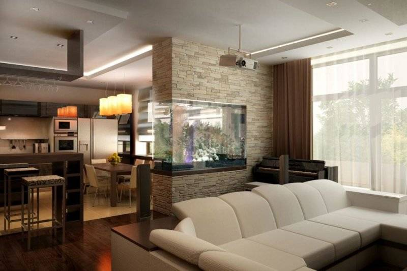 Кухни-гостиные 16 кв. м (70 фото): дизайн кухни, совмещенной с гостиной и проект планировки с диваном, идеи интерьера