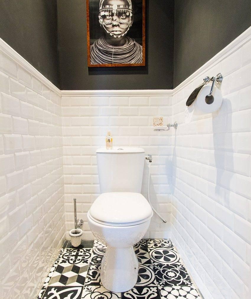 Ремонт туалета кафельной плиткой (11 фото)