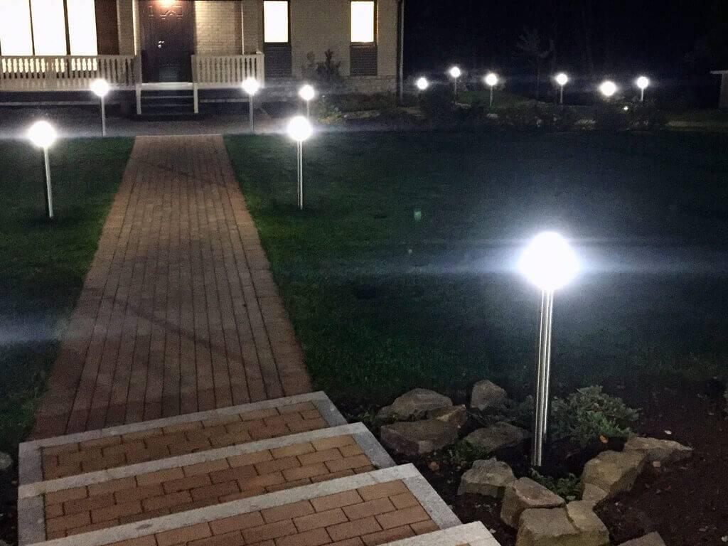 Ландшафтное освещение: правила и особенности размещения