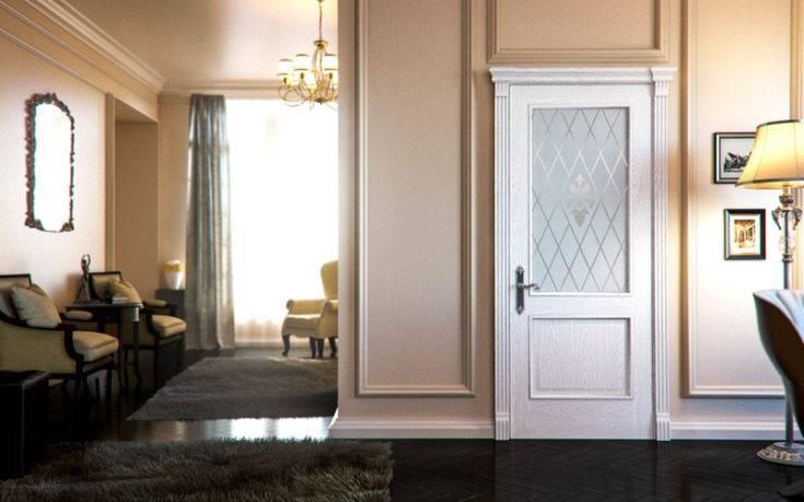 Белый плинтус и белые двери в интерьере: фото сочетания с разными стилями