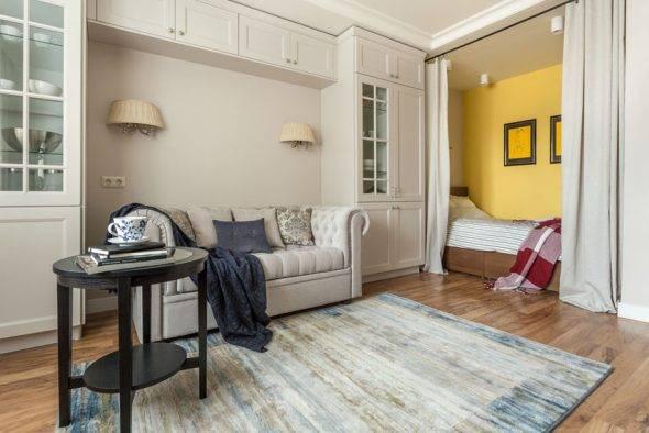 Зонирование пространства спальни: 115 фото вариантов оптимальных пропорций (обои, перегородки, цвета)