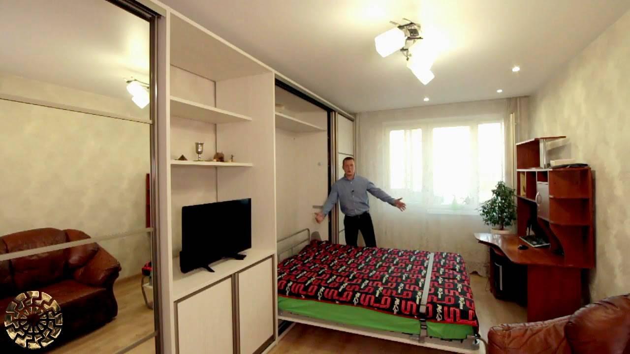 Кровать, встроенная в шкаф, плюсы и минусы, виды и их характеристики