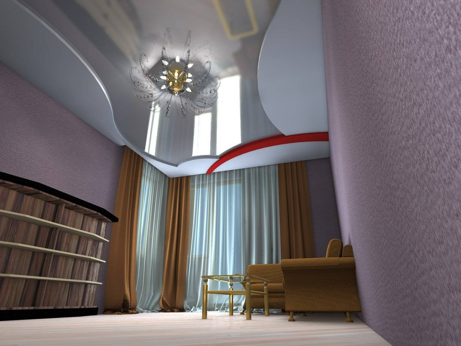 Как визуально увеличить высоту потолка? (13 фото)