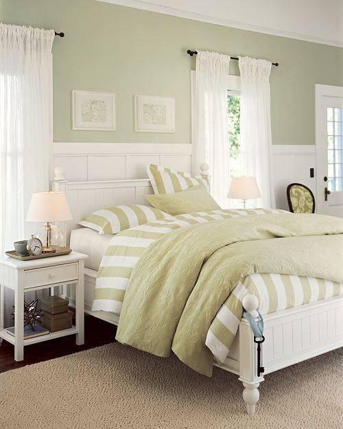 Особенности оформления интерьера спальни в фисташковом цвете