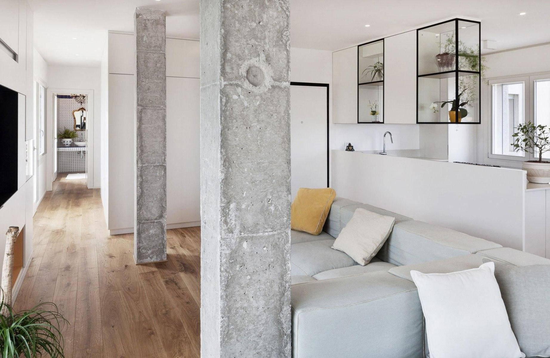 Колонны в итерьере: декоративные из полиуретана в современном стиле, оформление колонны в квартире