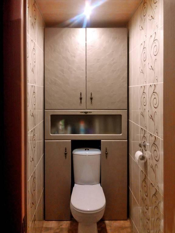 Шкаф в туалете за унитазом своими руками: фото и инструкции
