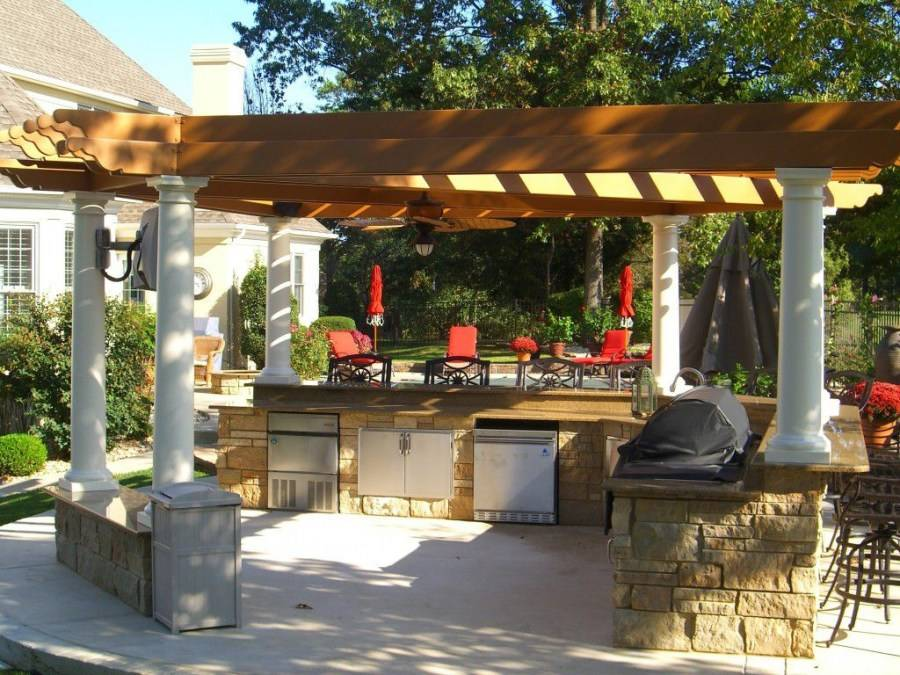 Летняя кухня на даче: проекты, фото, рекомендации