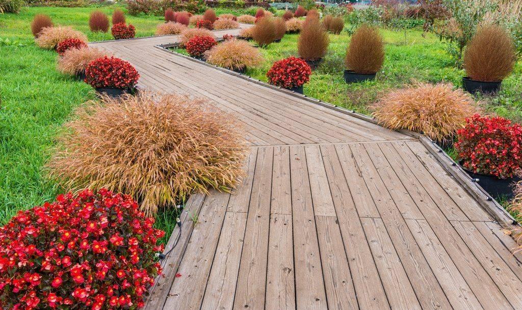 Дорожки на даче деревянные: интересные варианты и как сделать своими руками