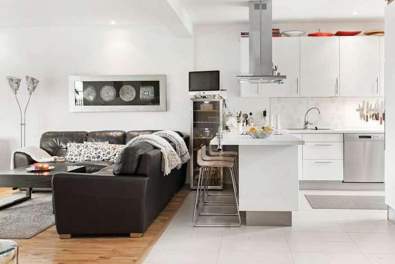 Зонирование кухни и гостиной: 60+ фото, дизайнерские идеи