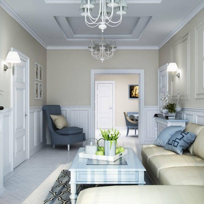 Обустройство интерьера гостиной в хрущевке: 6 аспектов