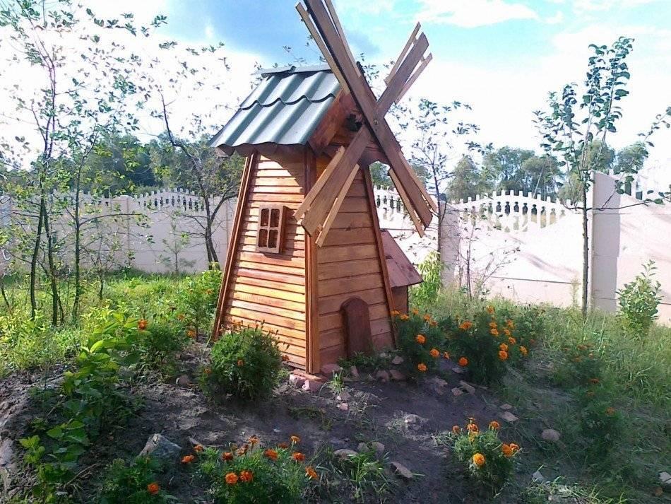Декоративная мельница для сада своими руками чертежи