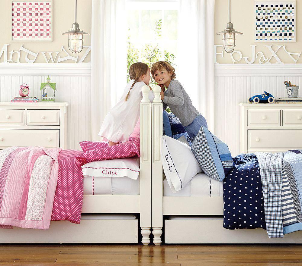 Детская для мальчика и девочки: как правильно разделить ее? (40 фото)