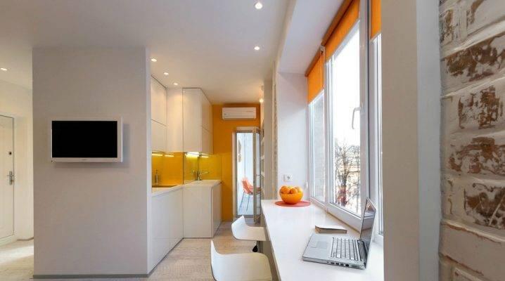 Дизайн студии 23 кв. м. (56 фото): ремонт квартиры 23 метра с одним окном и балконом