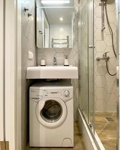 Стиральная машина в ванной: 100+ фото [лучшие интерьеры 2019]