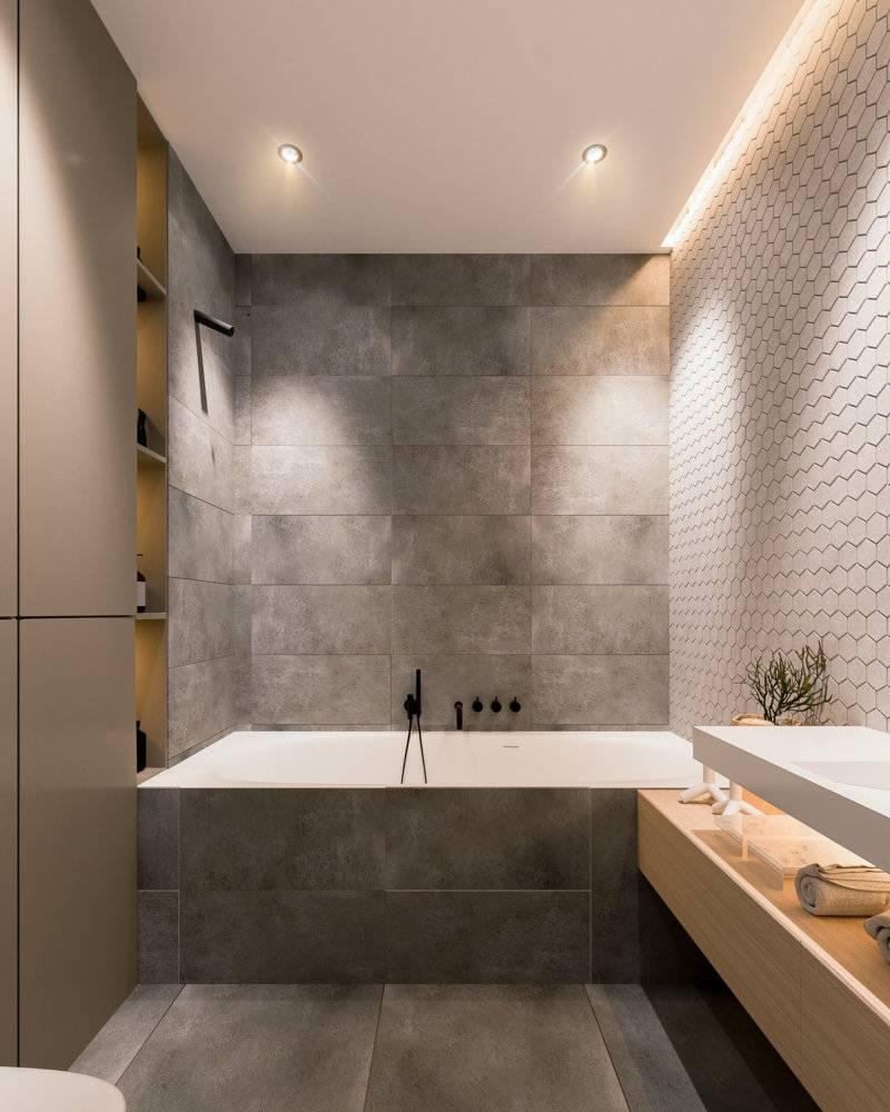 Ванная в стиле хай-тек: фото дизайна, идеи оформления интерьера