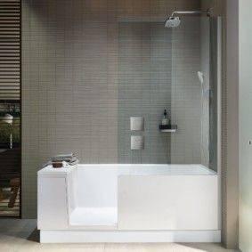 Ванная с душевой - лучшие идеи размещения и 130 фото реальных дизайнов интерьера