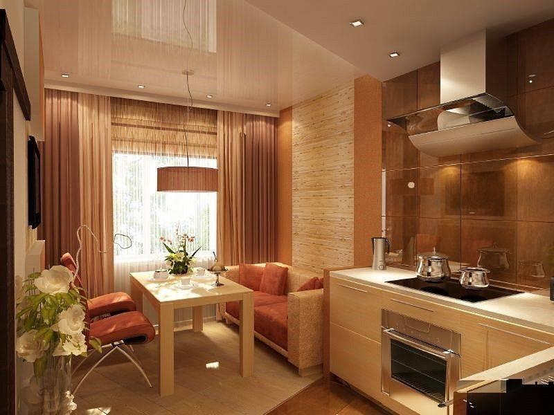 Дизайн кухни площадью 15 кв. м