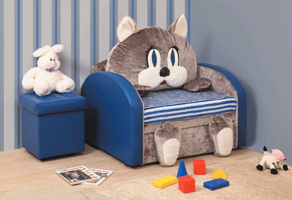Детское кресло в виде мягкой игрушки: особенности, разновидности и выбор