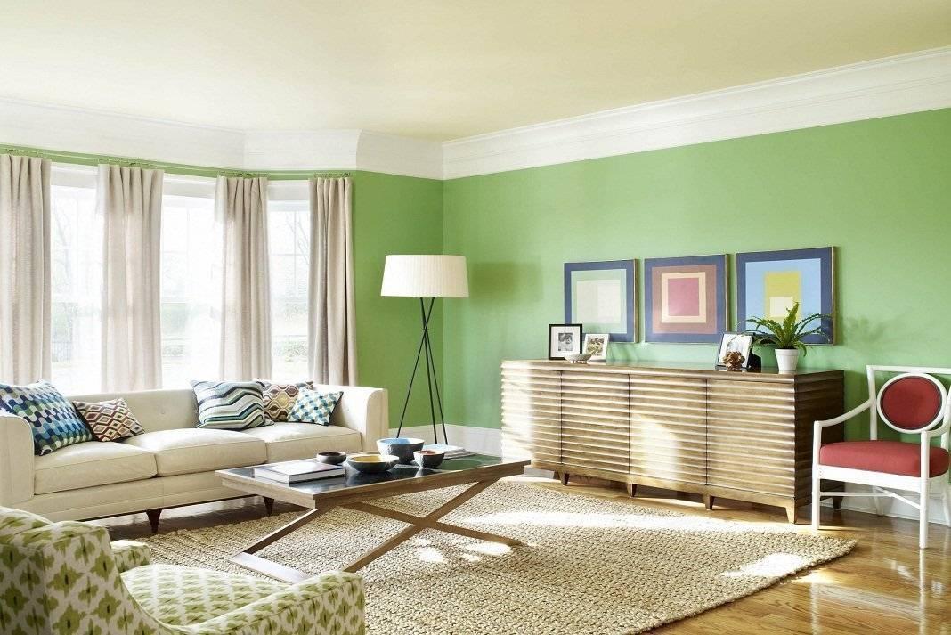 Зеленые обои в интерьере +75 фото