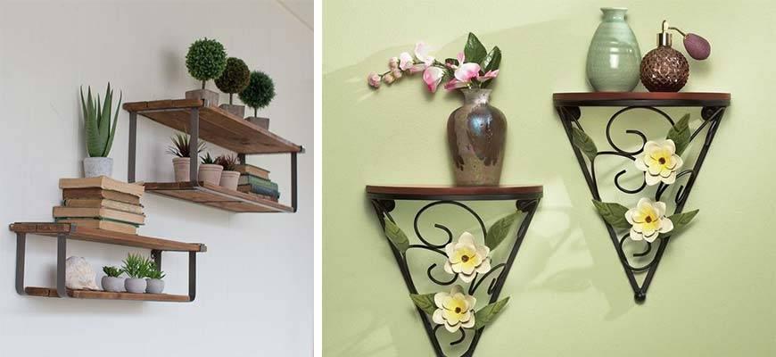 Полки под цветы своими руками с фото: настенные, навесные, подвесные, угловые и другие