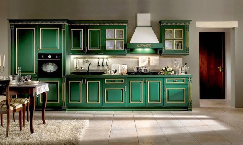 Зеленая кухня: сочетание цветов, полезные советы, реальные фото