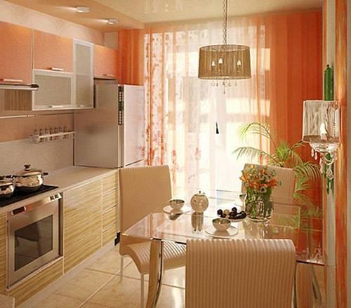 Модные приемы дизайна гостиной в персиковых тонах