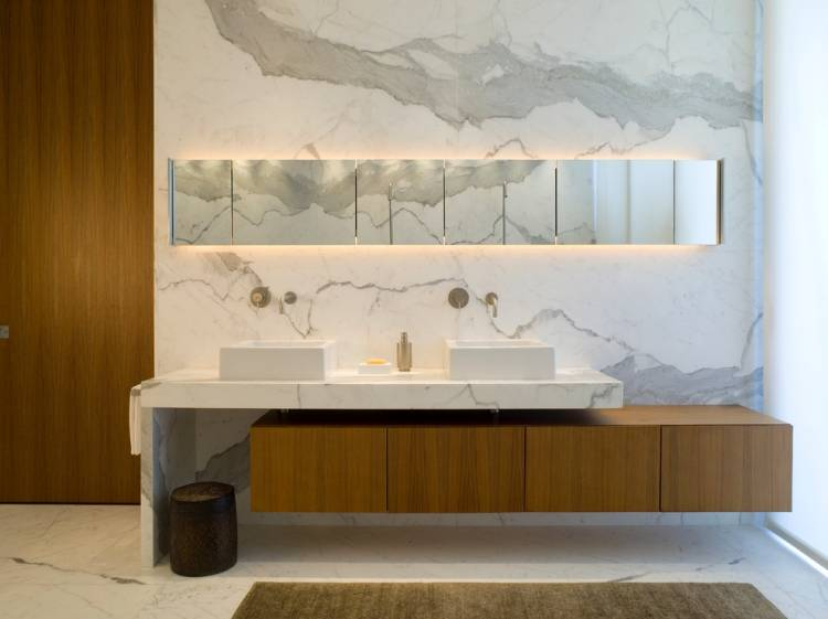 Ванная под мрамор — дизайн интерьера ванной комнаты