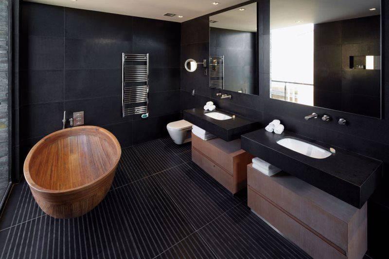 Ванная в стиле «минимализм»: особенности выбора мебели, сантехники и аксессуаров