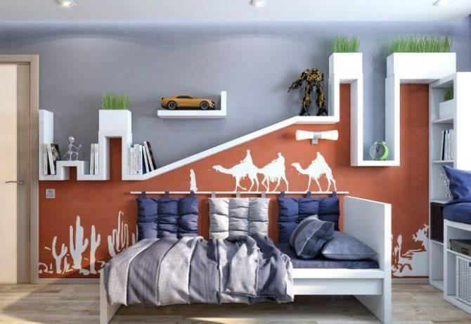 Детский уголок в однокомнатной квартире - примеры планировок (25 фото)