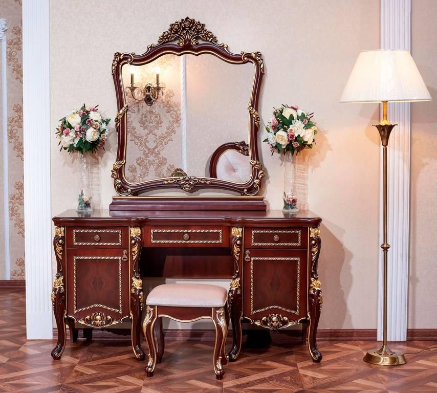 Трюмо с зеркалом в спальню, дизайн, модные цвета, критерии выбора